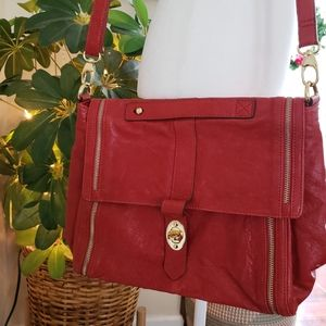 Hype red crossbody bag with adjustable strap